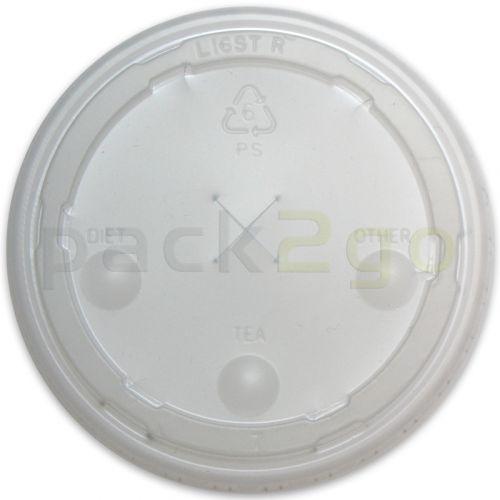 Strohhalm-Deckel für Pappbecher - 0,75l, 105mm, Plastikdeckel mit Kreuzschlitz