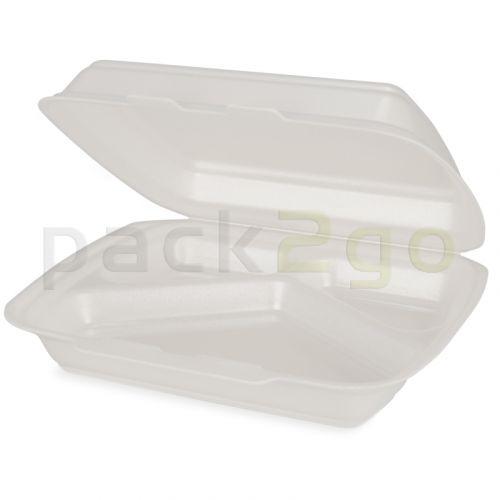 Menüboxen HP4/3 - geschäumtes Polystyrol - 3-geteilt