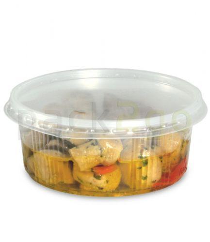 Feinkostbecher, Verpackungsbecher mit Deckel, PP, rund (Kombipack) - 200ml