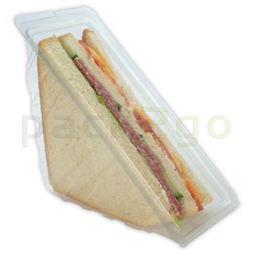Sandwichverpackung - Dreieckige Sandwichboxen 3-lagig mit anhängendem Deckel