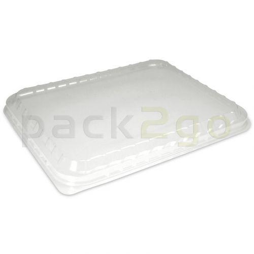 Deckel für Alu-Menüschalen, glasklar 227x177mm, Kunststoffdeckel für 1/2/3-geteilte Menüschalen