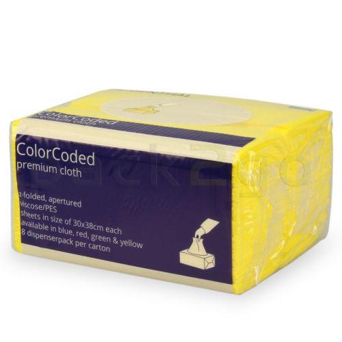 Spezial Wischtuch mit Farbcodierung W8 System 30x38cm - gelb