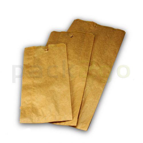 Bäckerfaltenbeutel 433, Bäckertüten Kraftpapier, braun - 20+7x42cm
