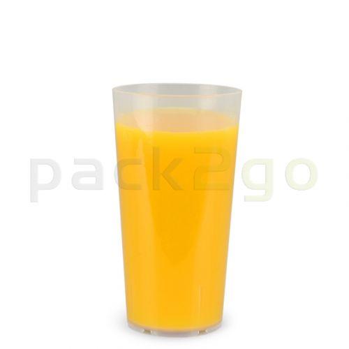 Mehrwegbecher PP transparent, leichter Mehrweg-Trinkbecher, Hartplastik - 0,3l