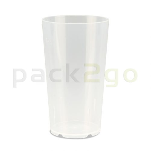 Mehrwegbecher PP transparent, leichter Mehrweg-Trinkbecher, Hartplastik - 0,2l