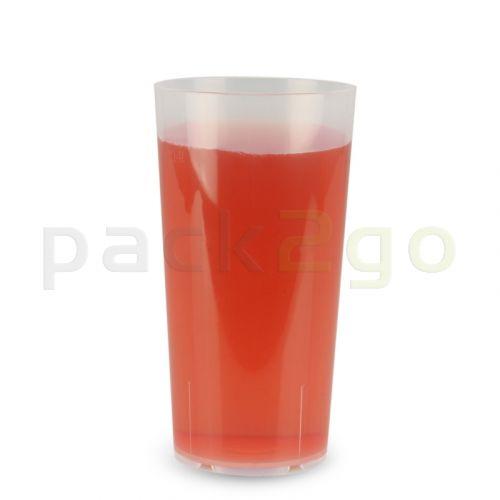 Mehrwegbecher PP transparent, leichter Mehrweg-Trinkbecher, Hartplastik - 0,4l