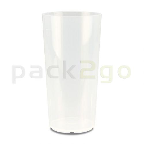 Mehrwegbecher PP transparent, leichter Mehrweg-Trinkbecher, Hartplastik - 0,5l
