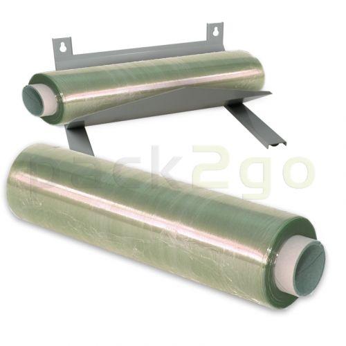 Spender Stahlblech für perforierte Frischhaltefolie, grau
