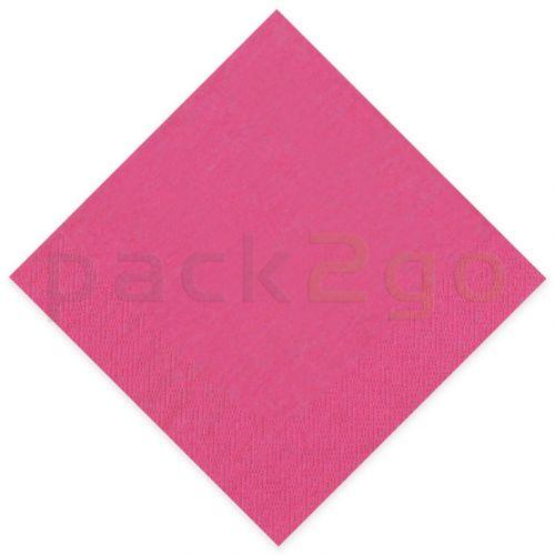 Tissue-Servietten GOURMET, 33x33 1/4 Falz, 3-lagig - fuchsia - Zellstoffservietten farbige