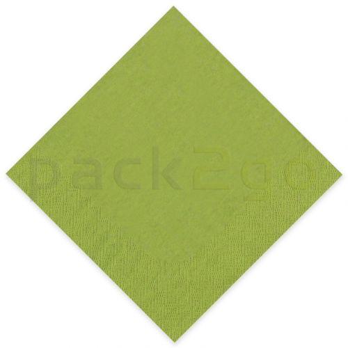 Tissue-Servietten GOURMET, 33x33 1/4 Falz, 3-lagig - hellgrün - Zellstoffservietten farbige