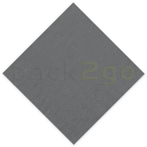 Tissue-Servietten GOURMET, 40x40 1/4 Falz, 3-lagig - grau - Zellstoffservietten farbige