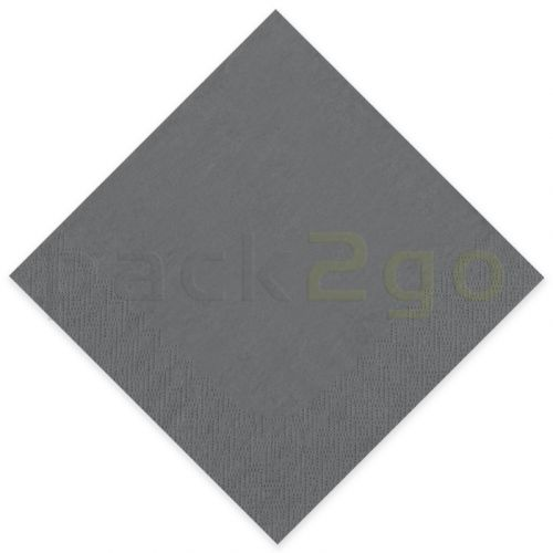 Tissue-Servietten GOURMET, 33x33 1/4 Falz, 3-lagig - grau - Zellstoffservietten farbige