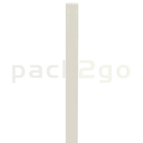 Kompostierbare Bio-Trinkhalme, Strohhalm aus Papier, starr - 20cm, Ø6mm - weiß