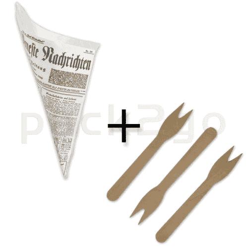 SPARPAKET - Snack-Spitztüten fettdicht 19cm -
