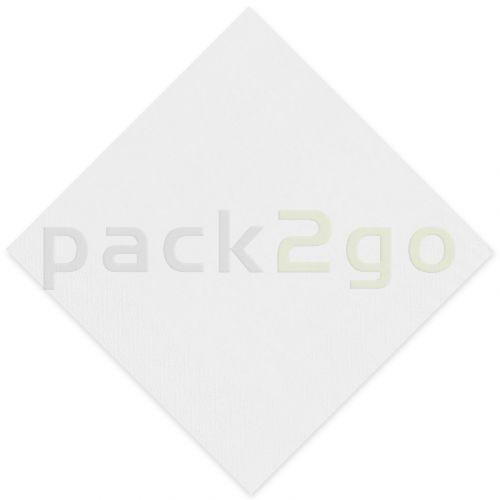 Tissue-servetten GOURMET  33x33 1/4 Falz vouw, 3-laags, kopvouw, celstofservetten - wit