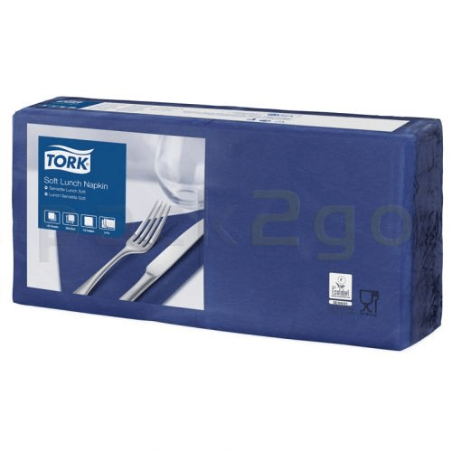 Tork Advanced tissue-servetten, 33x33 1/4, 3-laags, celstofservetten - donkerblauw