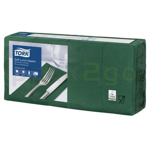 Tork Advanced tissue-servetten, 33x33 1/8, 3-laags, celstofservetten - donker-/mosgroen