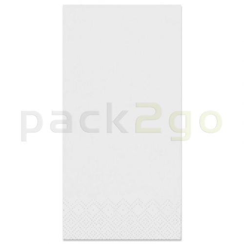 Tissue-servetten GOURMET  40x40 1/8 vouw, 2-laags, kopvouw, celstofservetten - wit