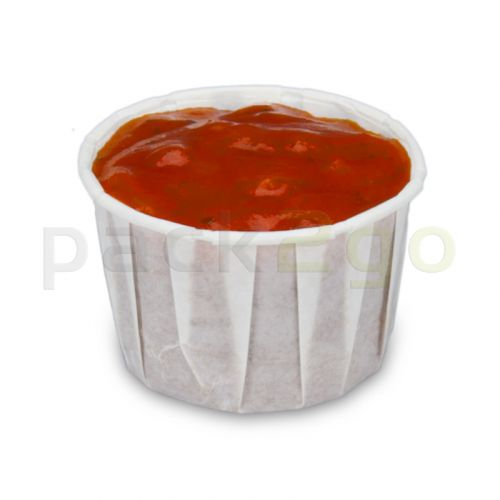 Dressingbecher aus Papier, Saucenbecher, weiß - 30ml