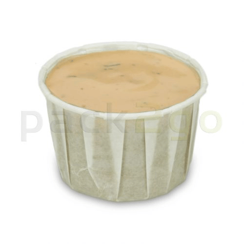 Dressingbecher aus Papier, Saucenbecher, weiß - 60ml