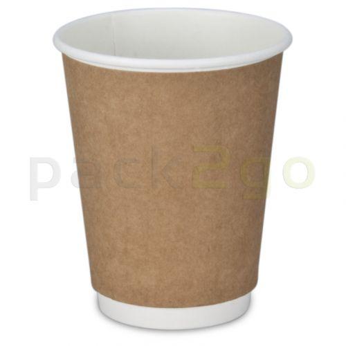 Doppelwand-Kaffeebecher, Recycling, Coffee to go Becher braun- 12oz, 300ml