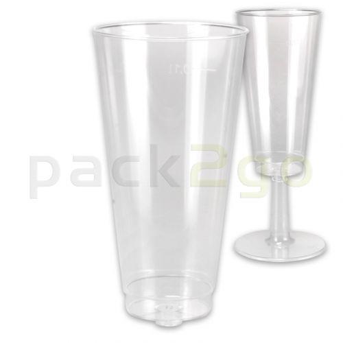 Oberteil zum Stecken für Einweg-Party-Sektglas 0,1L glasklar - nur Oberteil