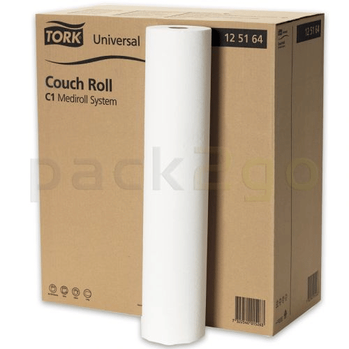 TORK-C1 Universal Liegenabdeckung Medirollen 125164, 1-lagiges Tissue-Papier 59x38cm, 50m Rolle
