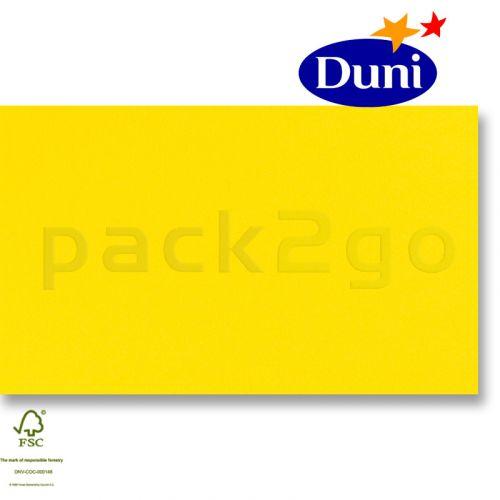 Dunilin-tête-à-têtes 84x84cm - geel (airlaid tafelkleed, textiel karakter) # 322522