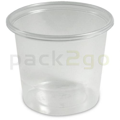 Dressingbecher, Verpackungsbecher PS, klar, rund Ø 70,3mm  - 125ml