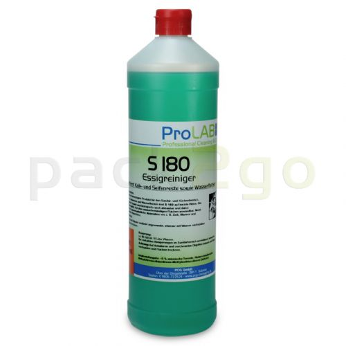 S-180 - Professioneller Essigreiniger (ProLab), biologisch abbaubar, 1-Liter Flaschen
