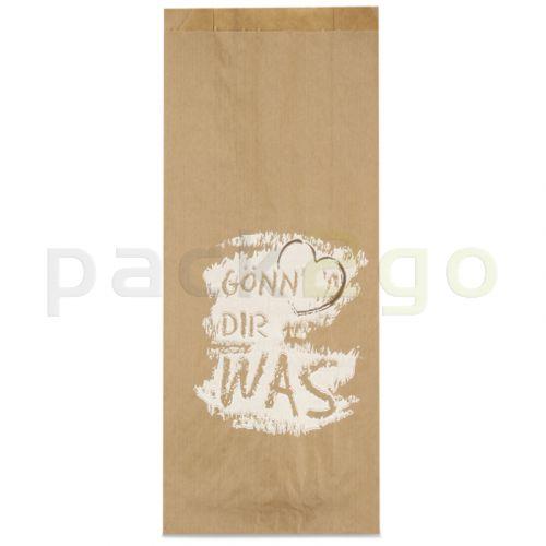 Bäckerfaltenbeutel 433, Bäckertüten braun Kraft bedruckt -