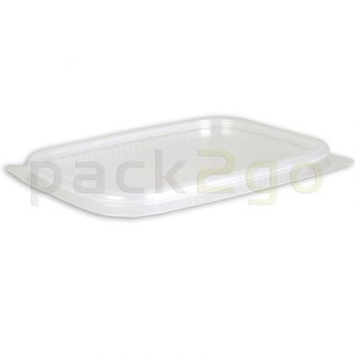 Deksel voor delicatessen-/verpakkingsbekers van PP - rechthoekig, 108x82mm