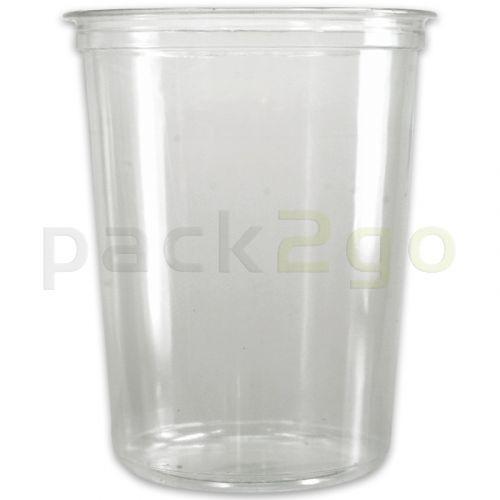 Deli Gourmet Container, exklusiver, glasklarer Feinkost-Becher- 32oz, 800ml - Ananasbecher
