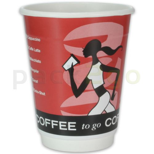 Doppelwand-Kaffeebecher, Pappe, Coffee to go