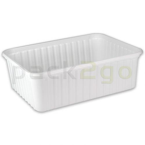 Maxi-Verpackungsbecher, weiß, Kunststoffschale eckig - 2000ml
