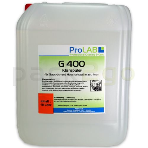 G-400 Klarspüler für Spülmaschinen (ProLAB), 10L Kanister