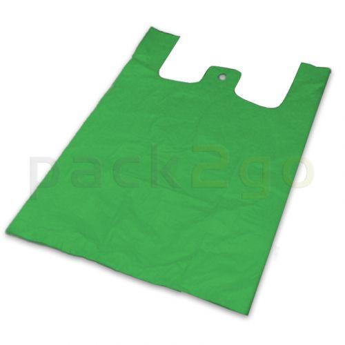 Hemdchentragetaschen - HDPE (ND-Polyethylen), grün - mittelgroß 30+18x54cm