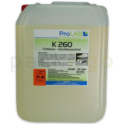 K-260 Fettlöser Gastronomie, Konzentrat für Küche - Konvektomatenreiniger (ProLAB), 10L Kanister