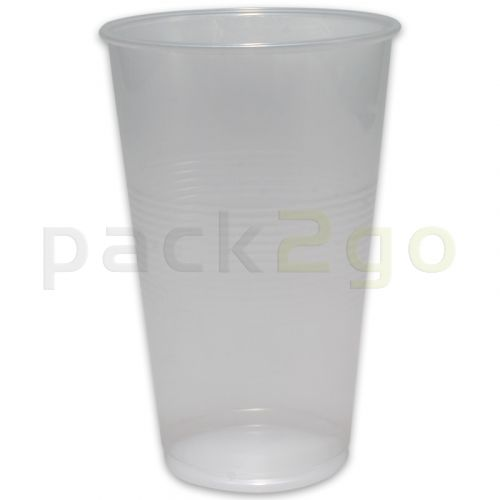 plastic bekers, doorzichtig, drinkbekers uit PP-kunststof (wegwerpbekers voor koude dranken, transparant) - 0,2l