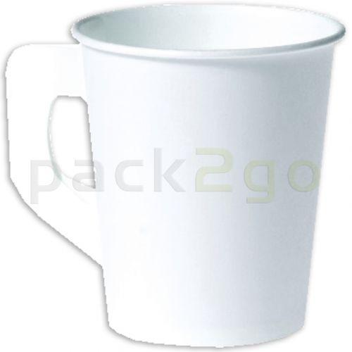 Pappbecher, Kaffeebecher Einweg mit Henkel für Kaffee und Tee - 180ml