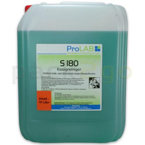 S-180 - Professioneller Essigreiniger (ProLAB), biologisch abbaubar, 10L Kanister
