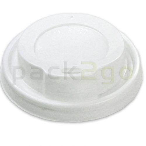 coffee-to-go-deksel 12/16/20oz, deksel voor koffiebekers 0,3-0,5l, Plastic - wit