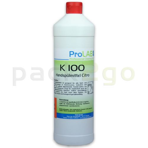 K-100 Handspülmittel mit Citruskraft (ProLAB), 1L-Flasche