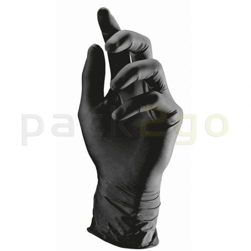 Latexhandschuhe puderfrei schwarz - LATEX COMFORT - XL (9-10)