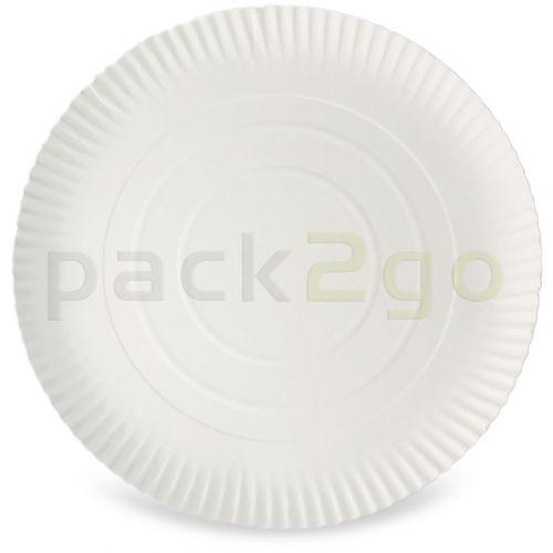 Pappteller rund Ø 32cm groß, 2cm hoch, unbeschichtet, Frischfaser, Pizzateller