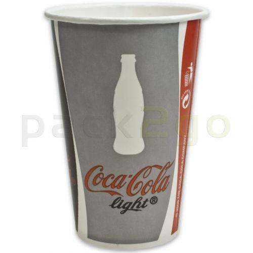 Pappbecher ''Coca Cola'' für Softdrinks - 0,2l - Ø75,5mm