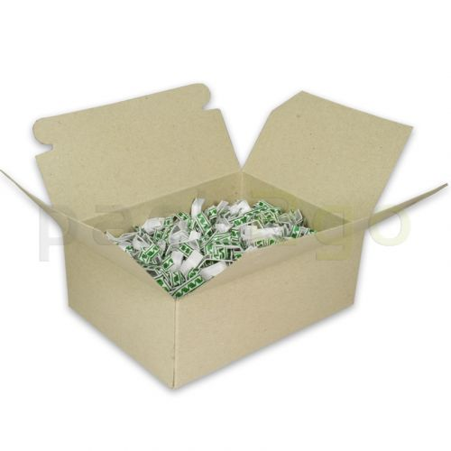 Beutelverschlußstäbchen für Zellglasbeutel u. PP-Beutel