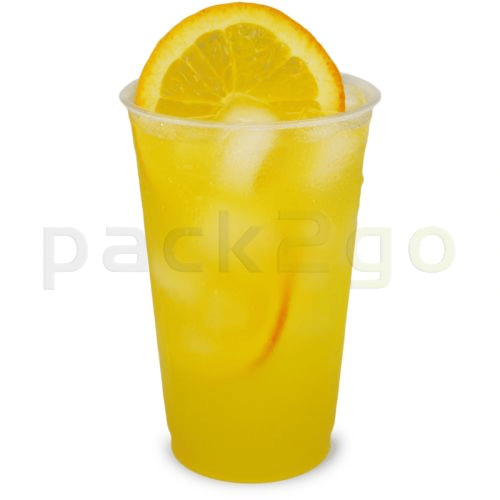 PLA clear cups, composteerbare smoothie-bekers to-go, 20oz, biologisch afbreekbaar - 0,5 l