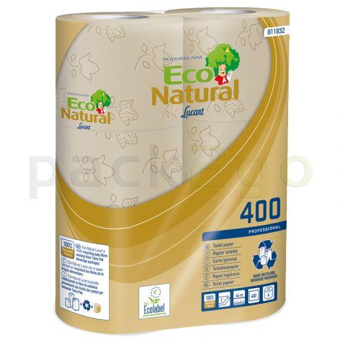 Toilettenpapier, Kleinrolle für Haushalt - Tissue, 2 lagig, umweltfreundlich 400 Blatt T4 Recycling natur