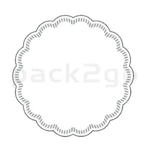Tassendeckchen, Ø90mm, 8-lagig - weiß